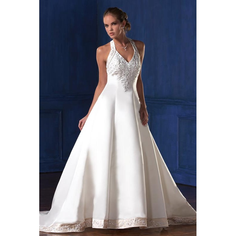 halter wedding dress halter style wedding dress 4687