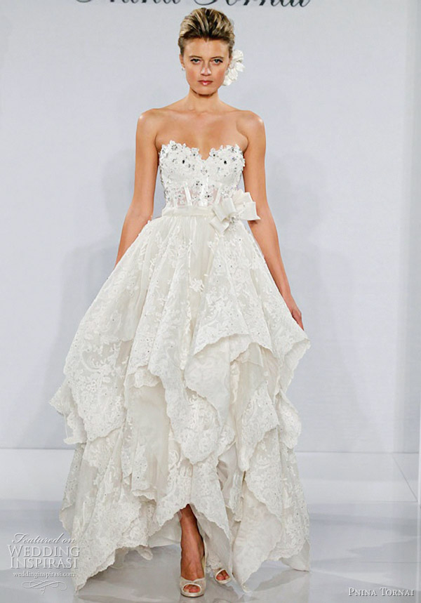 E Wedding Dresses : Handkerchief wedding dress