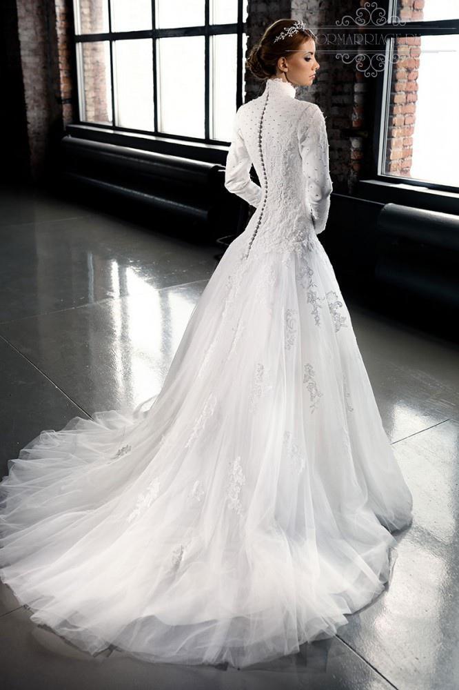 High collar wedding dress for Wedding dress with high collar