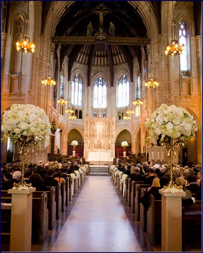 Decorated Church For Wedding