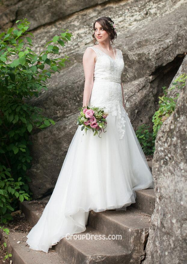 Spring wedding dress illusion v neck stunning backless mermaid lace spring wedding junglespirit Gallery
