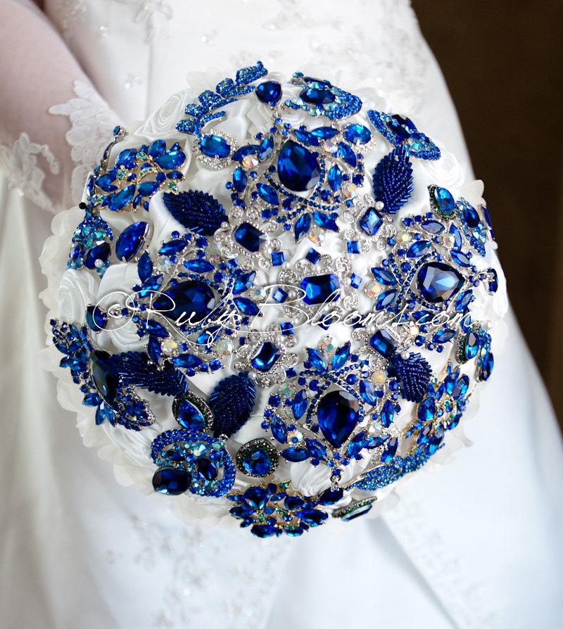 cobalt blue wedding bouquets. Black Bedroom Furniture Sets. Home Design Ideas