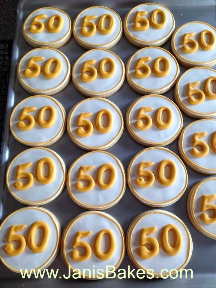 Janis Bakes 50th Wedding Anniversary Cookies