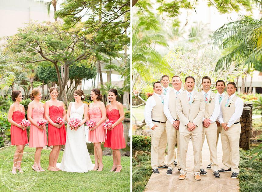 Hawaiian Theme Wedding Kauai Marriott Photohrapher