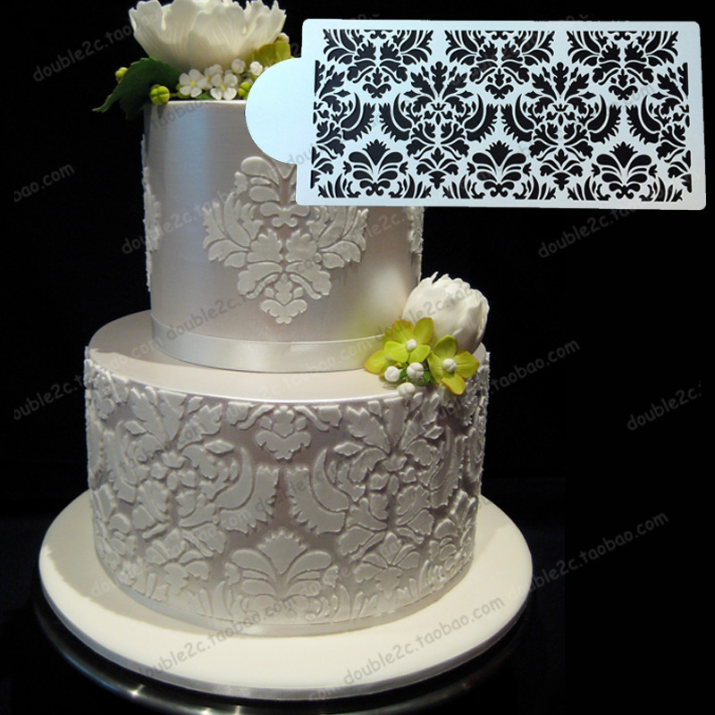 wedding cake with lace pattern lace pattern wedding cake 26915