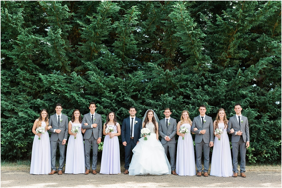 White Wedding Dress With Lavender