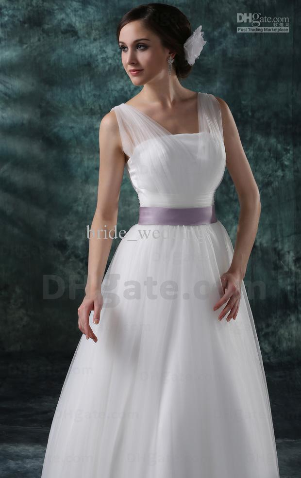 Lavender and white wedding dress for White wedding dress with lavender