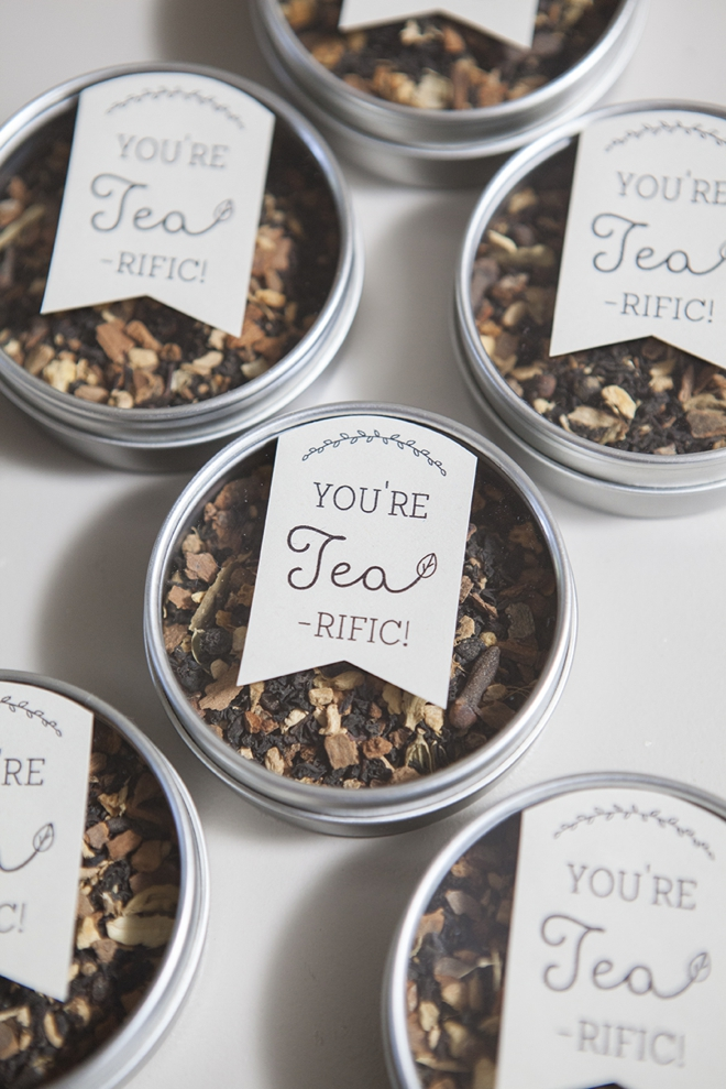 Learn How To Make These Darling Tea Wedding Favors