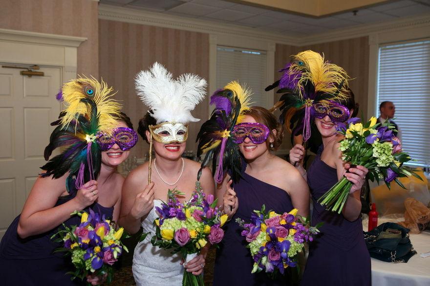 Mardi Gras Themed Wedding