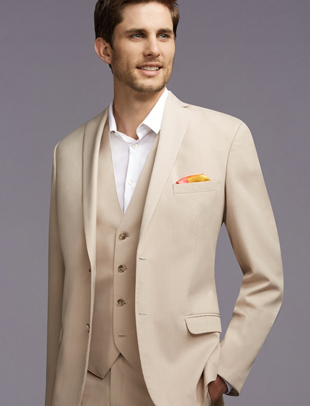 Tan Mens Suit For Wedding
