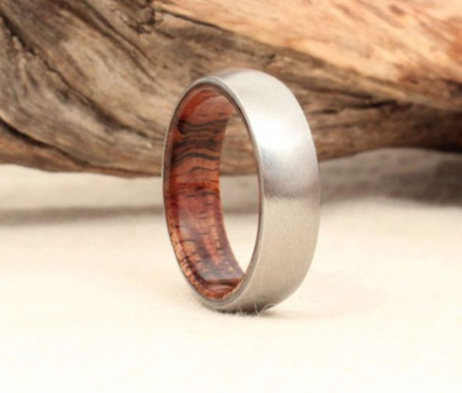 Mens Wood Wedding Bands For Him And Her That Match Wicker U0026 Wood