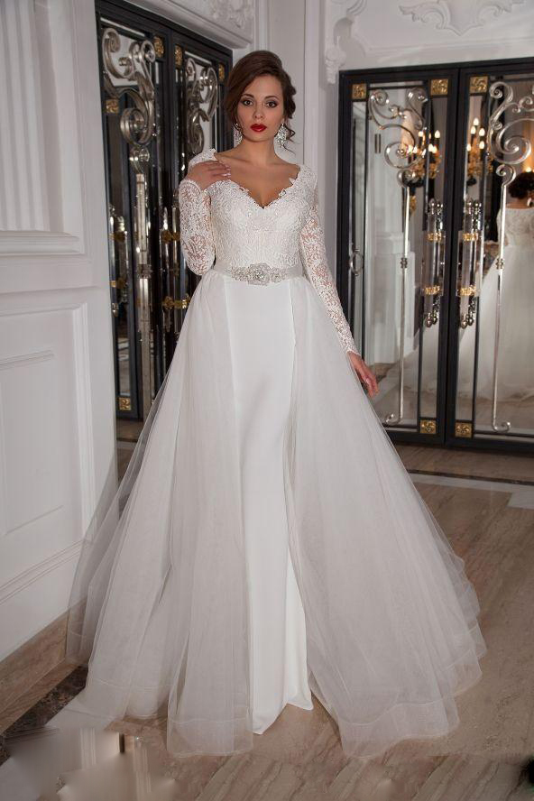 Removable train wedding dress for Wedding dress with removable train