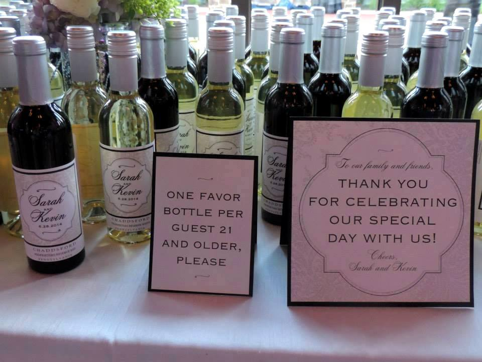 Beautiful Personalized Mini Wine Bottles Wedding Favors Images ...