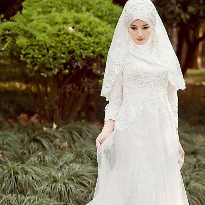 Muslim White Wedding Dress Muslim White Wedding Dress Suppliers