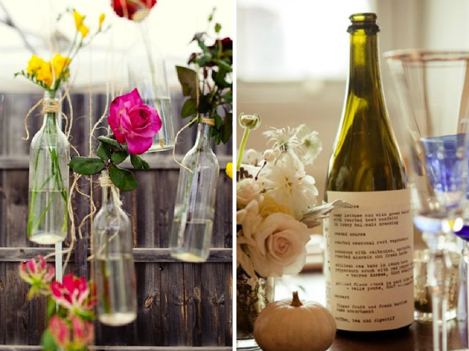 wine bottle wedding decorations. Black Bedroom Furniture Sets. Home Design Ideas