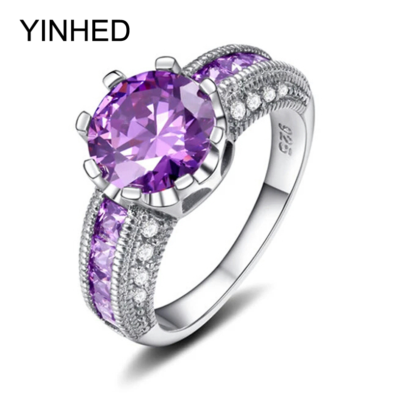 purple wedding rings - Purple Wedding Rings