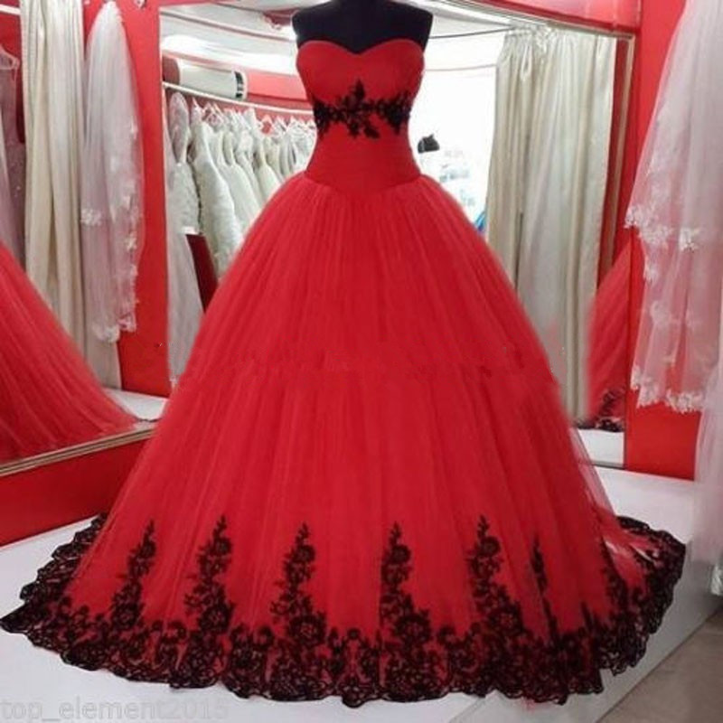 Red and black wedding dress for Cheap white and red wedding dresses
