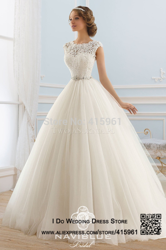Online Shop Real Sample Ivory Princess Wedding Dresses Lace Robe ...