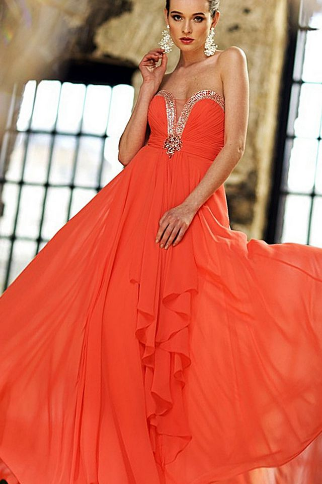 Burnt Orange Dress Wedding  Burnt Orange Dr...