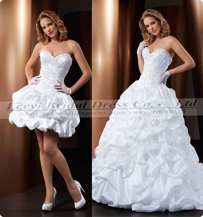 Wedding Dress With Detachable Skirts