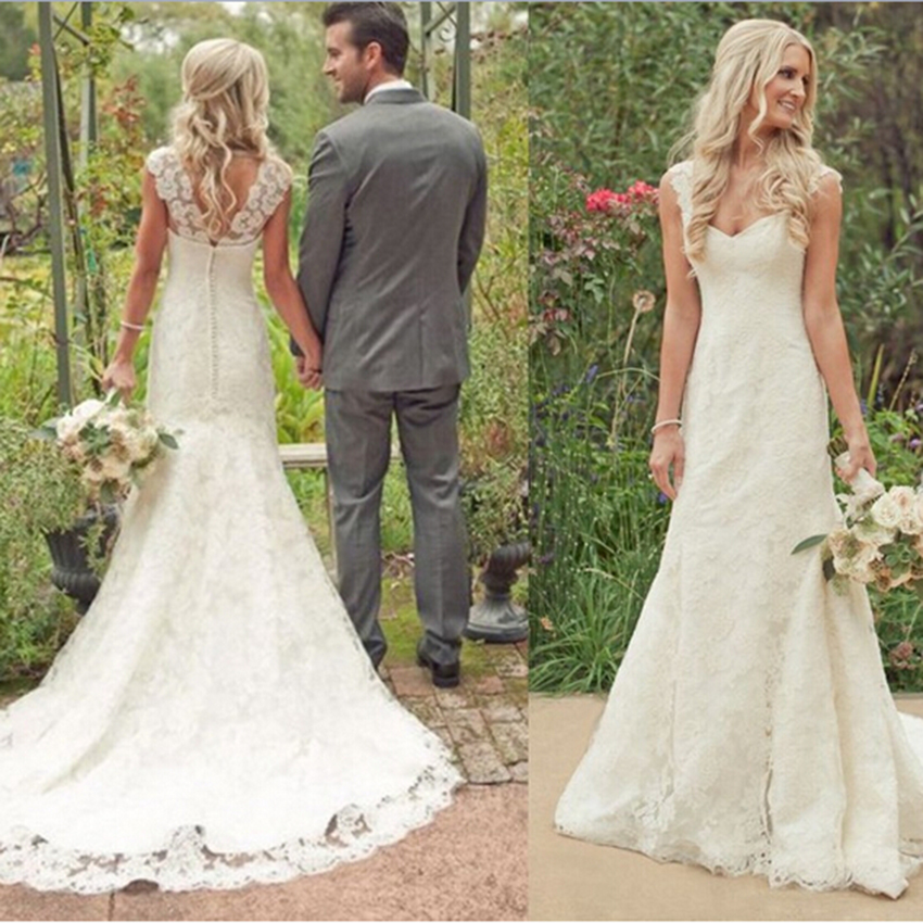 Country lace wedding gowns for Country wedding dresses lace