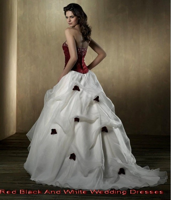 red black white wedding dresses | Wedding