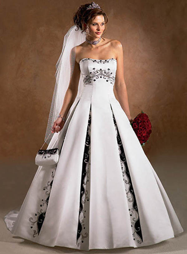 Red Black And White Wedding Dress