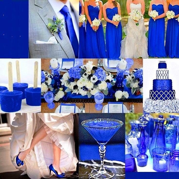 Royal blue wedding decor for Blue wedding reception ideas