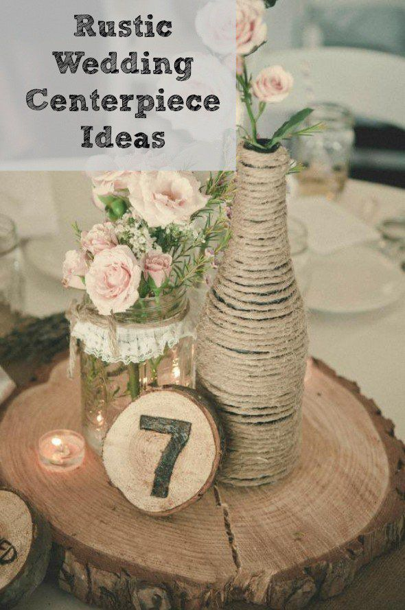 Rustic wedding centerpieces junglespirit Choice Image