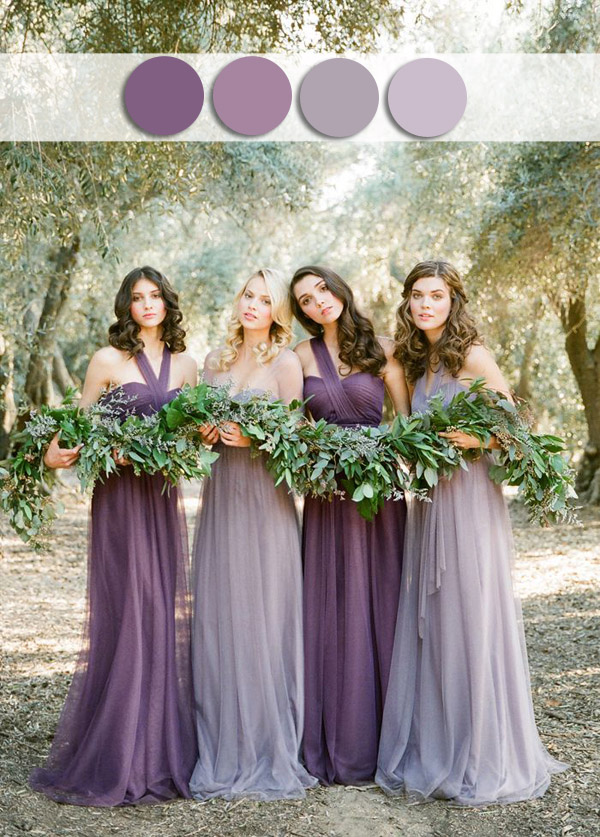 Shades Of Misted Purple Lavender Fall Wedding Color Ideas For