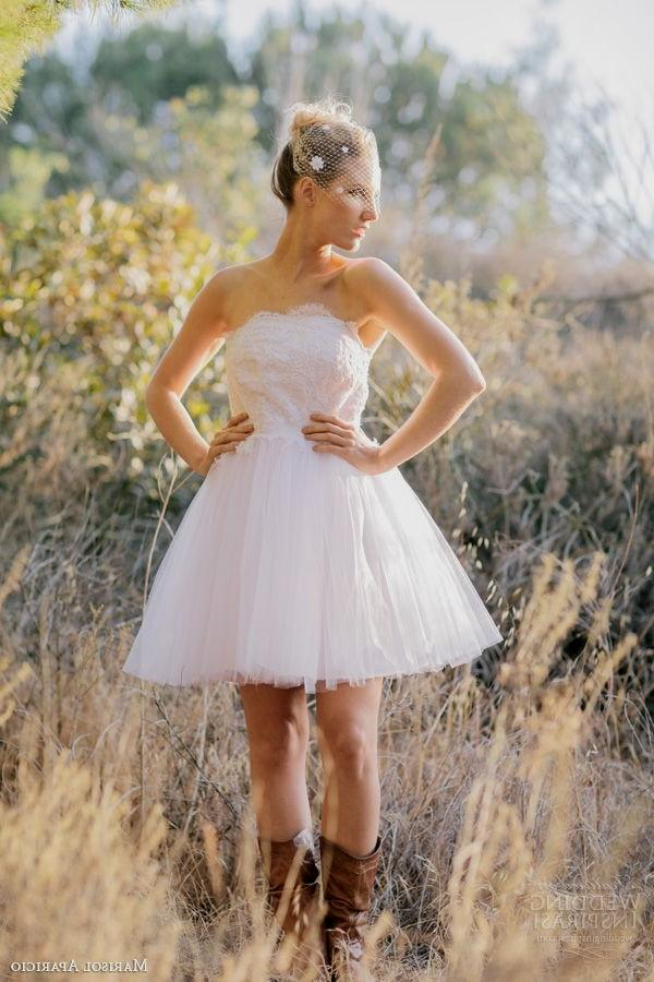 Short Wedding Dress To Wear With Cowboy Boots