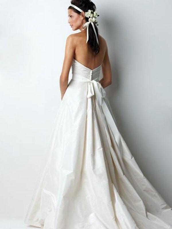 Relatively Taffeta Wedding Dress EO66