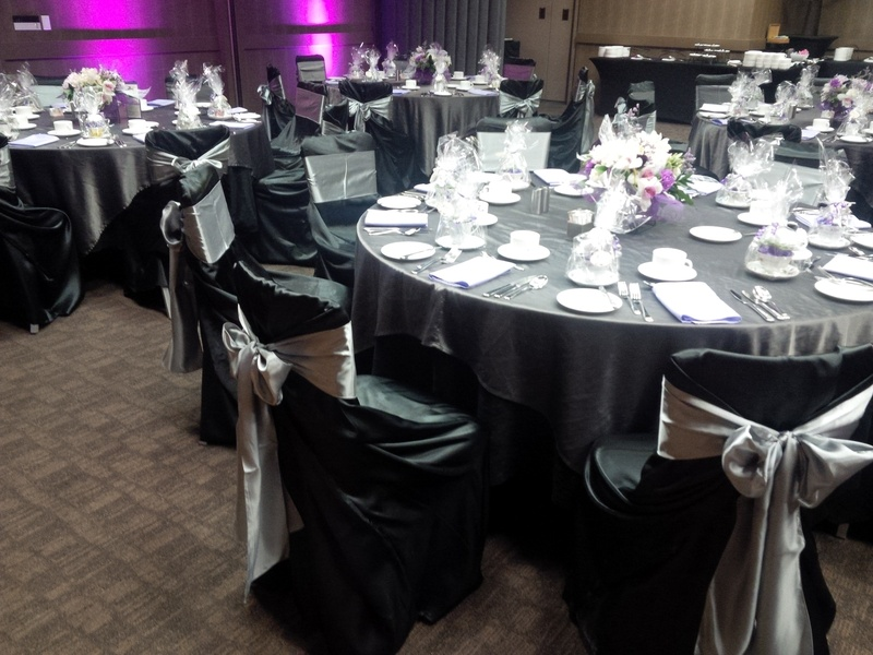 White And Silver Wedding Theme: Black Silver Wedding Decorations