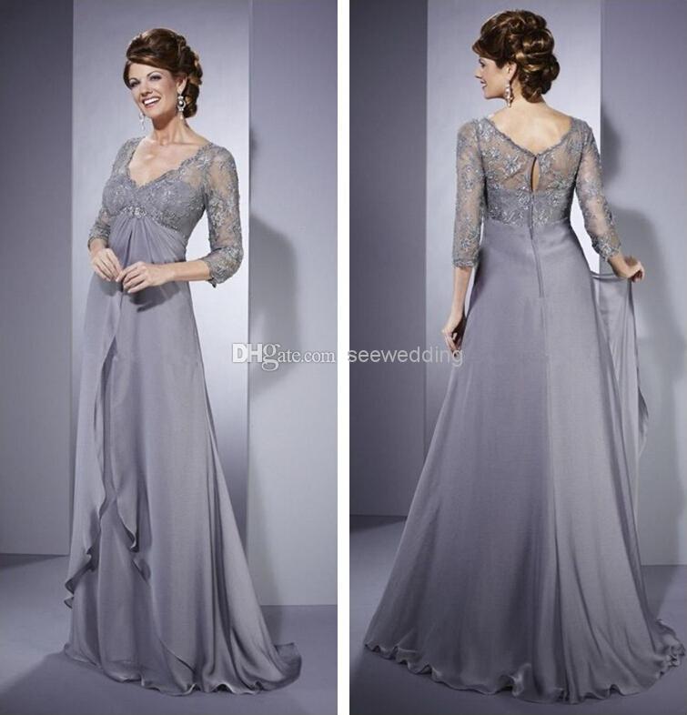 Silver Wedding Dress For Older Brides