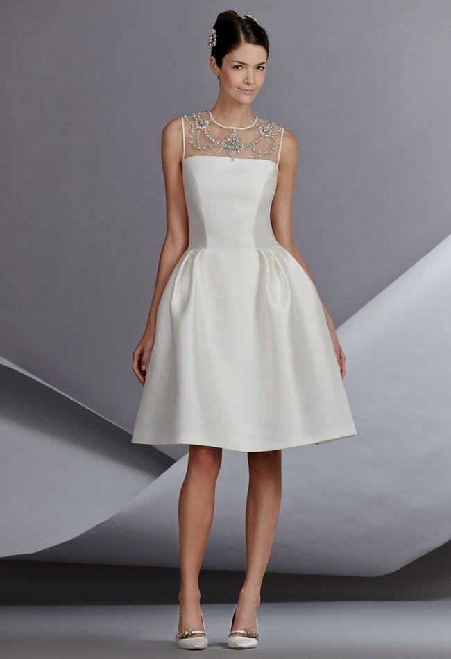 Simple White Dress For Courthouse Wedding