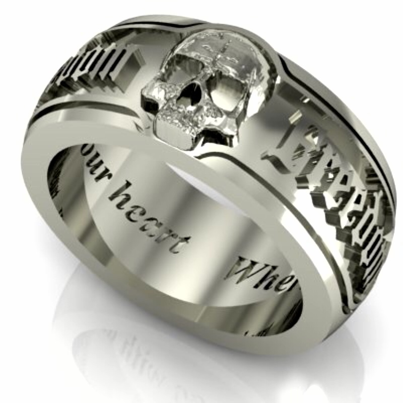 skull wedding bands - Skull Wedding Rings For Men