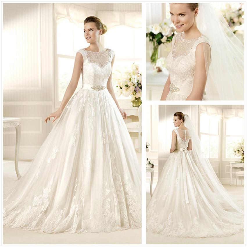 Sleeveless Wedding Dresses: Sleeveless Lace Wedding Dress