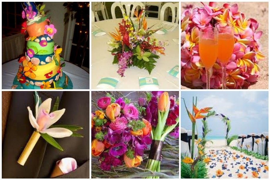 Tropical themed wedding tbdress blog decor suggestions for tropical themed weddings junglespirit Image collections