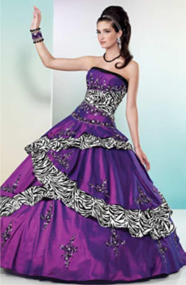 Plum colored wedding dress