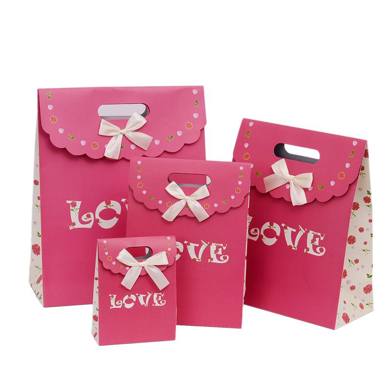 The New Wedding Gift Bags Hot Stamping English Love Knot Gift Bags
