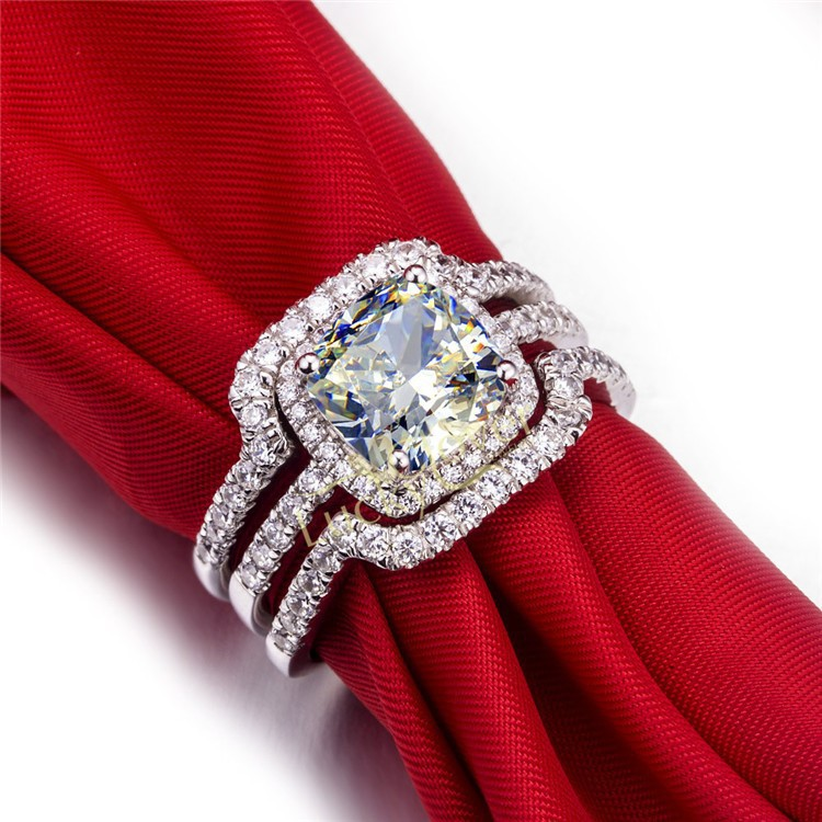 best cushion banded wedding three rings designs ideas band on pinterest