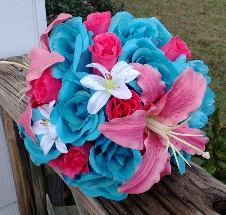 Fuchsia Wedding Flowers: Pink Tiger Lily Wedding Bouquets
