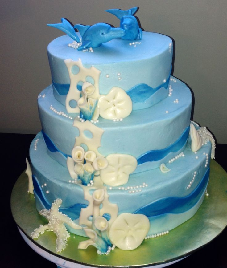 Dolphin wedding cakes pictures