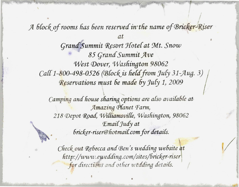 Accommodations card wedding wedding accommodation cards stopboris Image collections