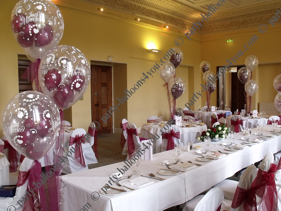 Balloon decoration for wedding reception for Balloon decoration for weddings