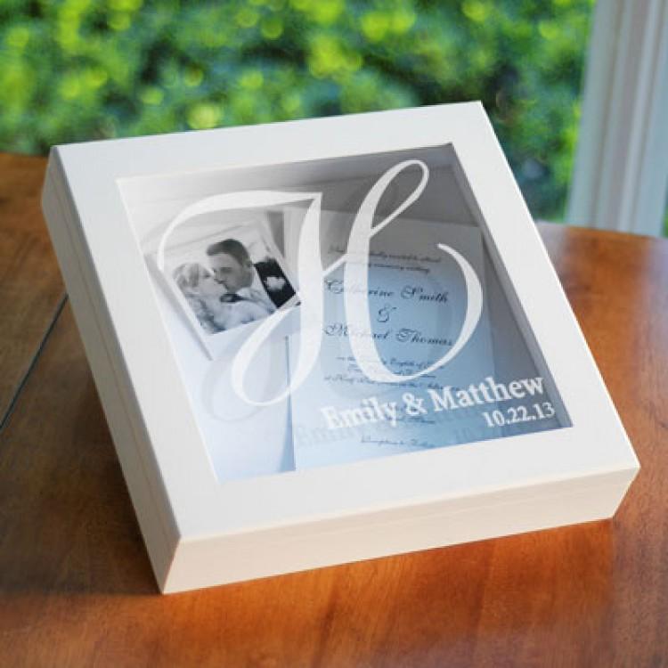 Wedding Keepsake Shadow Box Personalized Gifts Emcraft Therapyboxfo