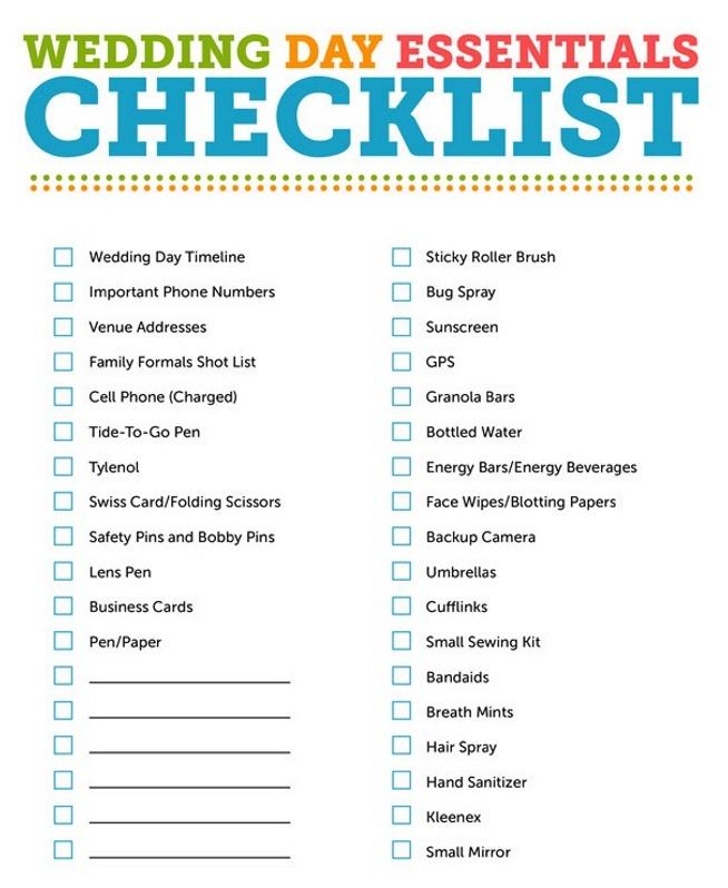 Wedding Reception Checklist Wedding Reception Activities Simple
