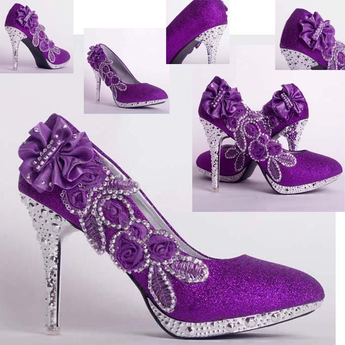 Purple Wedding Heels
