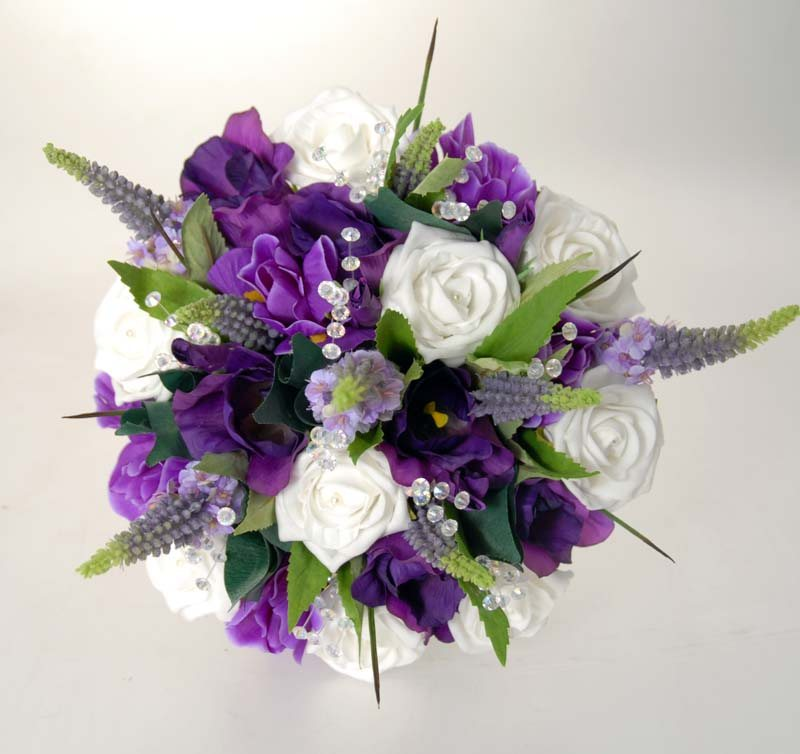 Beautiful Purple And White Wedding Flowers Images - Styles & Ideas ...
