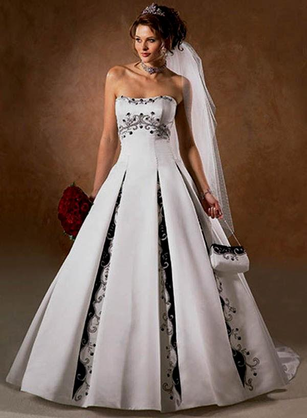 White Red And Black Wedding Dresses